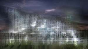 Serpentine Pavilion interactive installation by United Visual Artists.