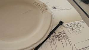 iQhina tableware by Sarah Rhodes and Andile Dyalvane.
