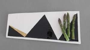 Geometric platter by Alexia Klompje.