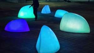 MARBLES interactive installation by Daan Roosegaarde.