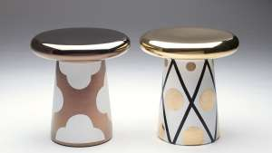 Ceramic side tables by Jaime Hayón for Bosa.