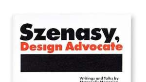 Szenasy, Design Advocate cover by Paula Scher.