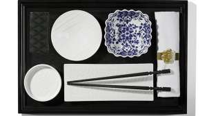 Japanese tableware by Marcel Wanders for KLM.