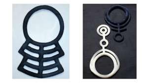 Maria Uys felt neckpieces.