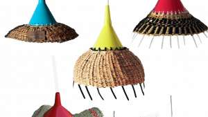 Africa meets China with these SA designed woven lights.