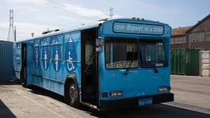 Lava Mae bus delivers dignity to the homeless with a hot shower.