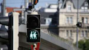 Vienna's same-sex traffic lights have become a movement toward tolerance.