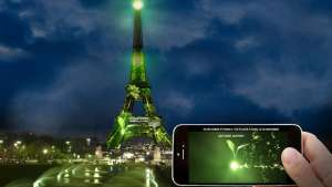 Artist Naziha Mestaoui is planning to grow a virtual forest on the Eiffel Tower that will be matched by a real one in the soil