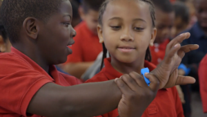 UNICEF have brought out a wearable that encourages kids to get active in exchange for points that save the lives of starving children in developing countries