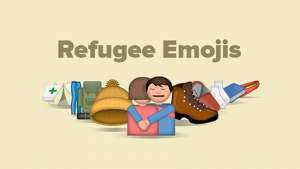 Refugee Emojis highlights the plight of refugees.