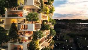 This firm's vertical forest is a sustainable contribution to a concrete city.