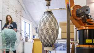 Fiber Pattern Lamp