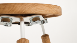 Float is a sustainable stool that is designed to promote healthy sitting, designed by students in Dresden