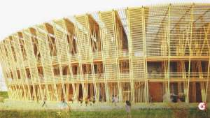 A graduate in architecture from TU Delft, Shen Chen has designed a temporary, multifunctional stadium built from bamboo.