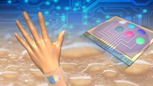 Wearable sensors measure skin temperature in addition to glucose, lactate, sodium and potassium in sweat.