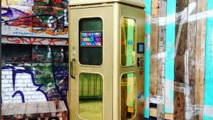 This phone booth sends its users back in time but it isn't a Tardis.