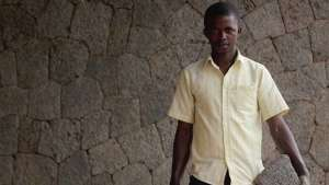 """What makes me happy is that people in this neighbourhood tell me I have done something beautiful here. I will build my house with this stone."" Master Mason Hakiza Emmanuel worked on the volcanic stone facades of the Butaro Hospital, Rwanda"