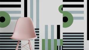 Pacboy pattern wallpaper by Renee Rossouw