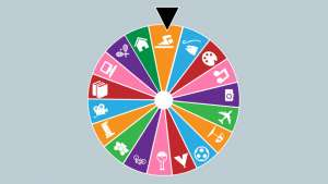 Randomised Lifestyle Wheel of Fortune by Kalia Barkai