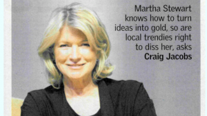 Martha Stewart in the Sunday Times