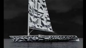 Laser sailboat by Marian Bantjes.