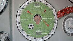 World Cup mosaics. Photo via designboom.
