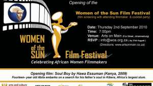 Women of the Sun Film Festival invitation.