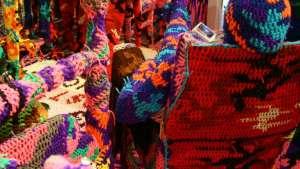 Crochet work by Agata Olek.