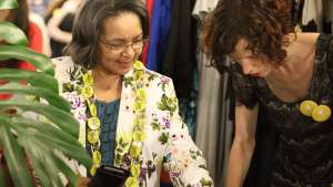 Cape Town Mayor Patricia de Lille at Design Indaba Expo