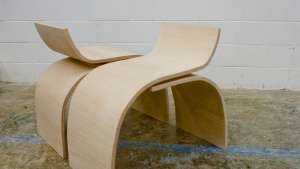 Designer Teshia Treuhaft's Curve Chair.