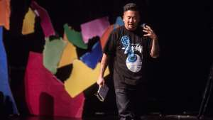 Roy Choi speaking at Design Indaba Conference 2015. Image: Jonx Pillemer