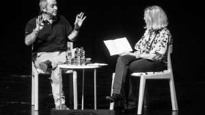 Nando's founder Robbie Brozin talks to Michelle Constant at Design Indaba Conference 2015