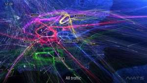 "Air traffic service NATS shares a striking visualisation of the flights over London's airports in ""London 24""."