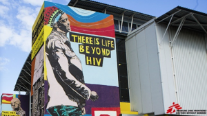 This mural was done to mark World Aids Day 2015.