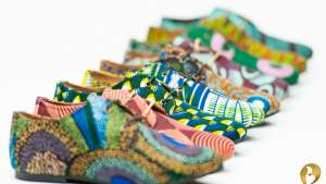 Beyla print shoes by Aissatou Sene