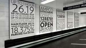 Paula Scher environmental graphics