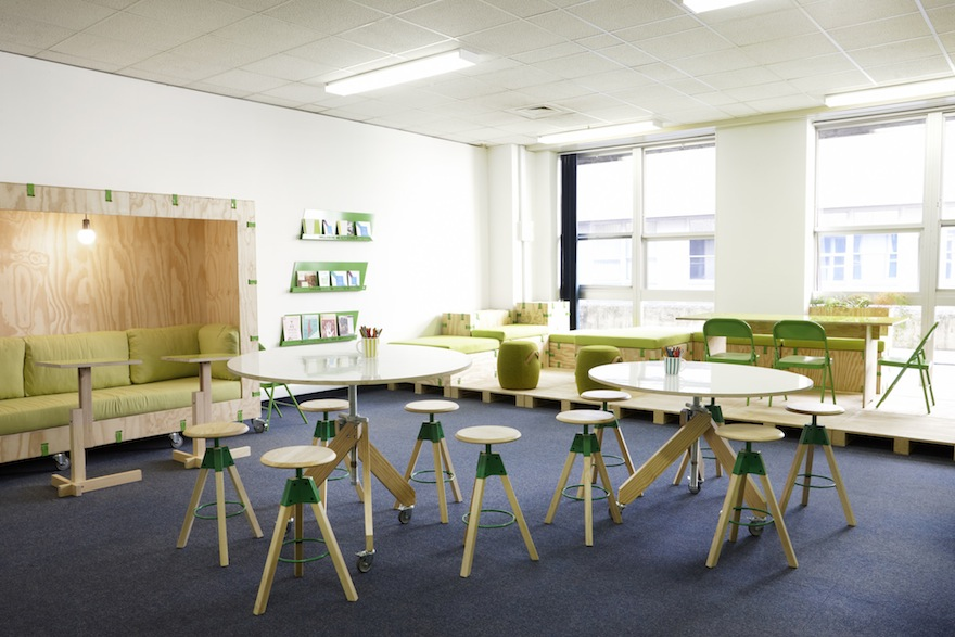 Haldane martin s zingy interior for new medical innovation - How long is interior design school ...