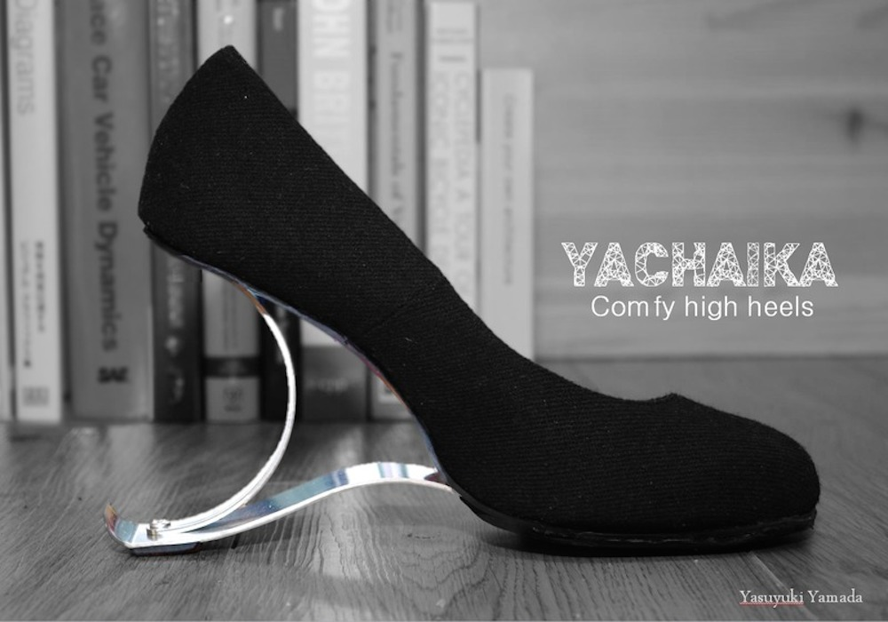 Spring-loaded high heels produce fluid