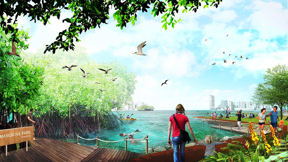 Tropical Utopian City Proposed For Malaysian Coastline