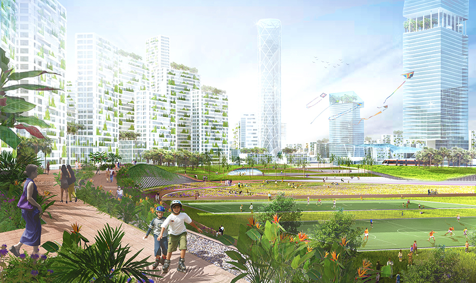 Tropical utopian city proposed for Malaysian coastline ...