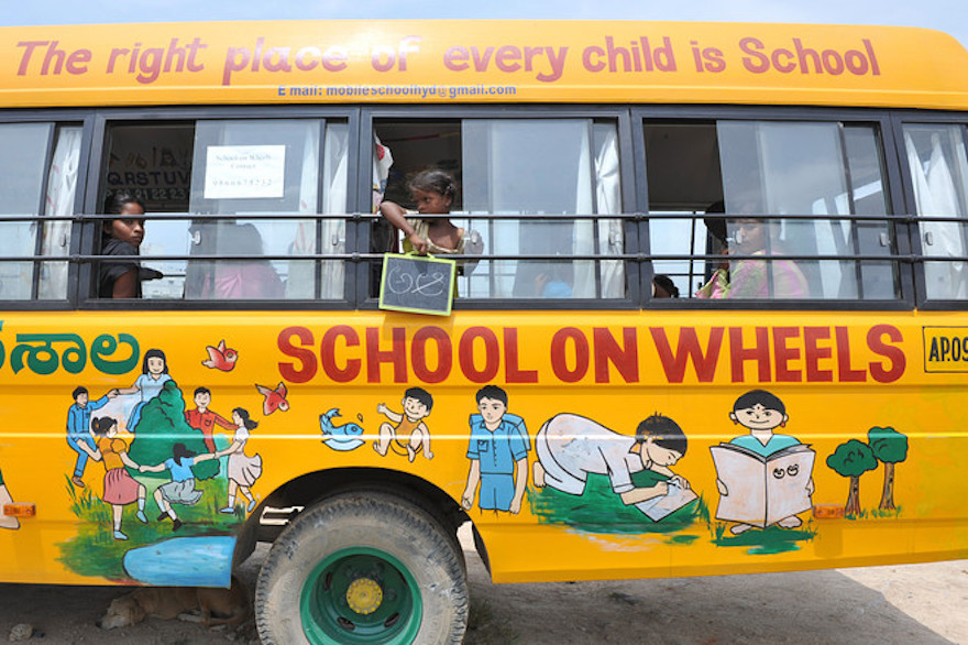 School On Wheels Brings Education To Impoverished Children