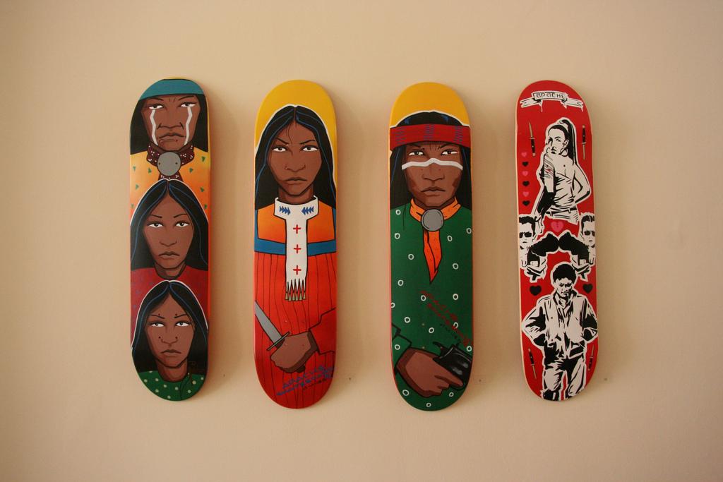Veteran Artist Douglas Miles Apache Skateboards Teach The
