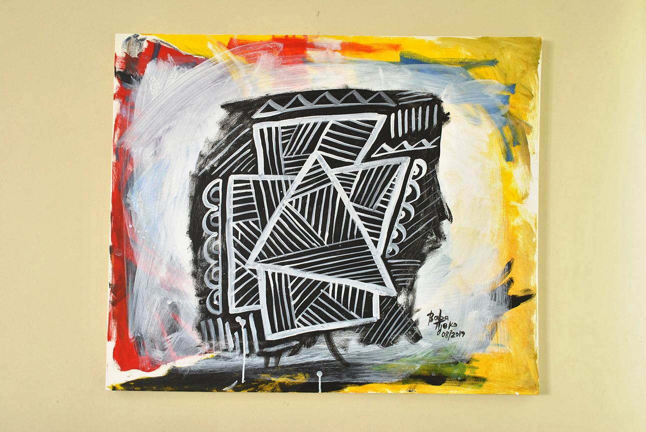 Baba Tjeko's illustrations bring the Sesotho geometric art of Litema to life