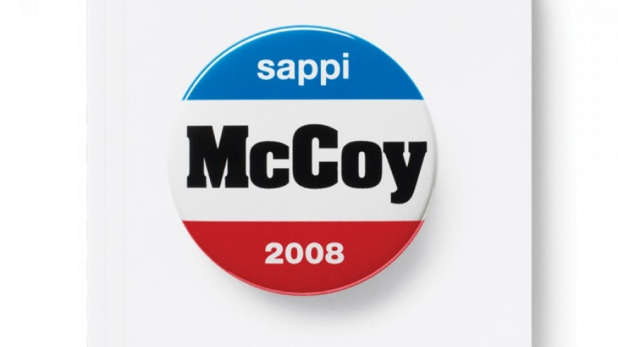 Sappi Buttons Book for McCoy paper. Courtesy of Dana Arnett / VSA Partners.