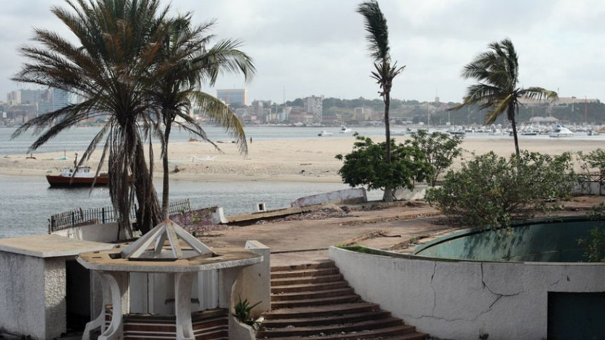 View of the city centre from the abandoned Panorama Hotel on the Ilha do Cabo.