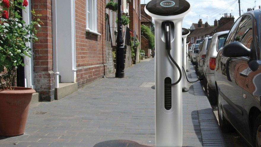 GE Wattstation electric vehicle charger. Courtesy of Yves Béhar / fuseproject.