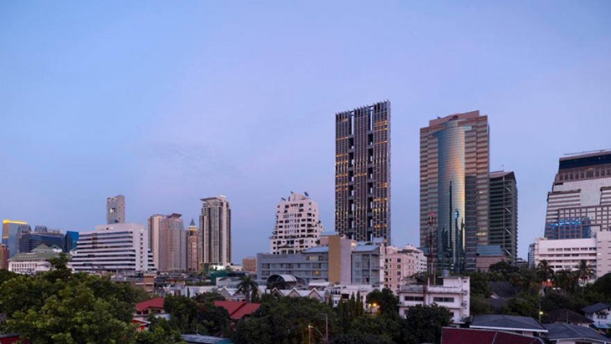 The Met Residential Tower by WOHA, Bangkok, Thailand.