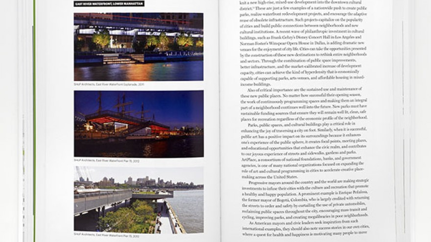 Images of SHoP designs for the East River Waterfront and Pier 15 in New York.