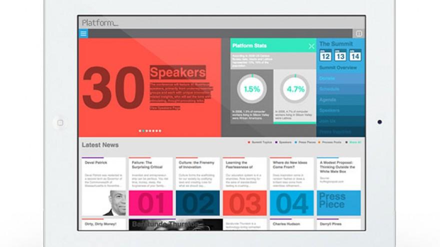 Platform identity, website design by Eddie Opara.