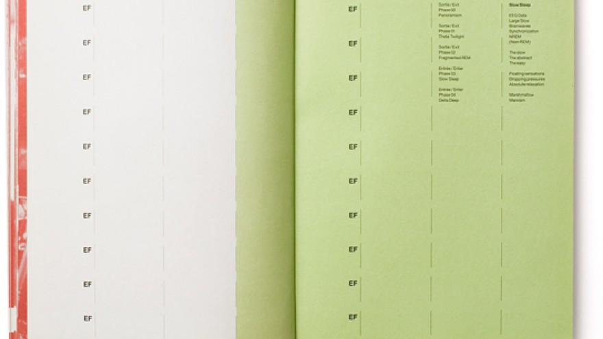 Catalogue designed for 'Elysian Fields', a group exhibition that took place at the Centre Pompidou (Paris, France) 2000.